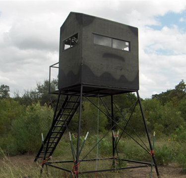 tbox 4x6 deer stand with porch back